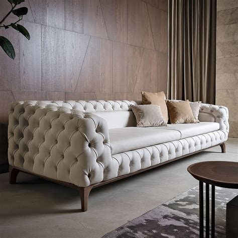 luxury settees luxury italian designer button upholstered sofa