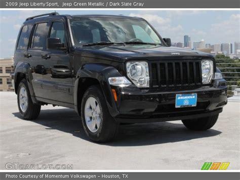 dark green jeep liberty jeep green metallic 2009 jeep liberty sport dark slate
