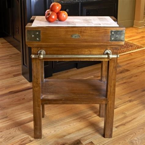 granite butcher block table a butcher block table top for a rustic kitchen