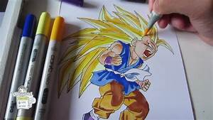 How To Draw Kid Goku Super Saiyan 3 Ssj3 U5b6b U609fu7a7a U8d85u30b5u30a4u30e4u4eba3 Youtube