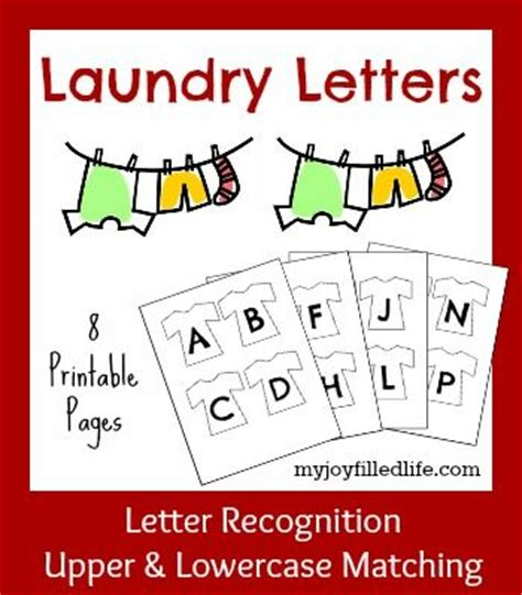 5 Days Of Letter Recognition Activities {laundry Letters  My Life, Cases And Printables