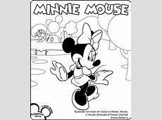 Minnie Mouse Planse de colorat Disney Copilulro