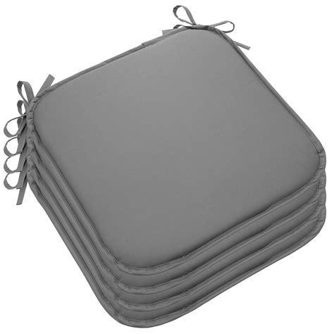 Set Of 4 Outdoor Memory Foam Chair Cushions Seat Pads Ties
