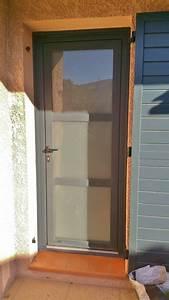 Moustiquaire Porte D Entrée : porte d 39 entree prefal aluminium pose de moustiquaire sur mesure martigues alu service ~ Melissatoandfro.com Idées de Décoration