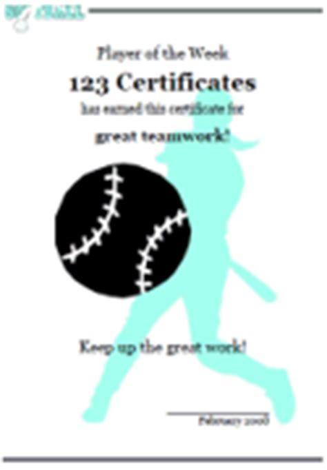 printable softball certificates  softball awards