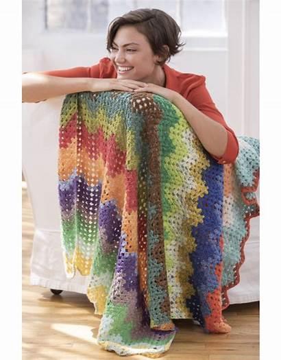 Lion Brand Cupcake Pattern Blanket Crochet