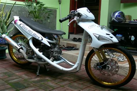 Yamaha Fino 125 Modification by Auto Gallery Modification Yamaha Mio Drag Style