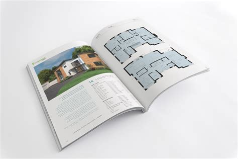 property pamphlet new build homes logo and branding holland park exeter