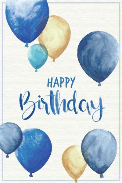 happy birthday greeting   man blue  gold