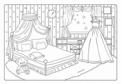 Princess Coloring Romantic Braut Bride Prinzessin Malbuch