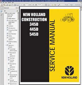 New Holland Ford 345  445  545d 250  260c Tractor Service Manual Pdf