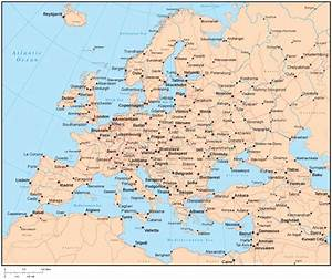 Map Of Cities In Europe | Thefreebiedepot