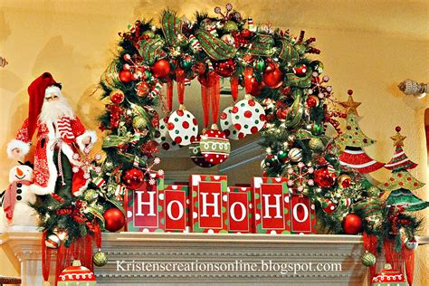 kristens creations whimsical christmas mantel