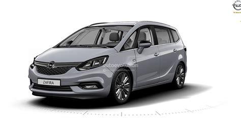 Opel Zafira by 2017 Opel Zafira Leak Reveals An Astra Inspied Front Fascia