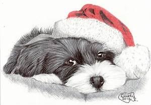 Christmas Dog by Cindy-R on DeviantArt