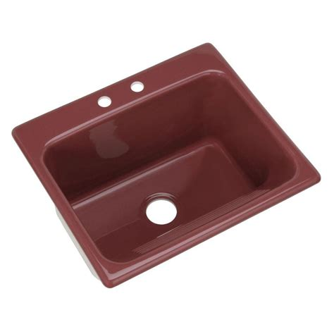 Thermocast Sink Home Depot by Thermocast Kensington Drop In Acrylic 25 In 2 Single