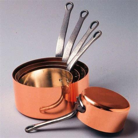 batterie de cuisine en cuivre casseroles cuivre étamé baumalu coin fr com