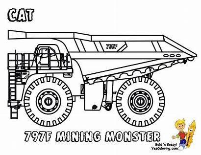 Truck Coloring Construction Pages Dump Rock Mining