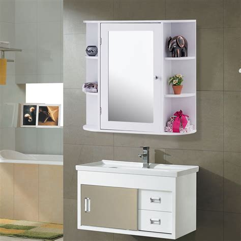 Bathroom Mirror Storage by Giantex Multipurpose Mount Wall Surface Bathroom Storage