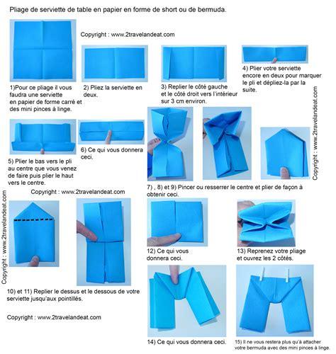 pliage de serviette de table en forme de bateau de cale 231 on ou ou de bermuda r 233 aliser un