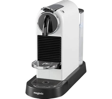 Machine Nespresso Magimix Buy Nespresso By Magimix Citiz Coffee Machine White Free Delivery Currys