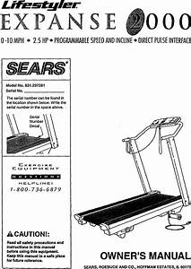 Lifestyler 831297281 User Manual Expanse 2000 Treadmill
