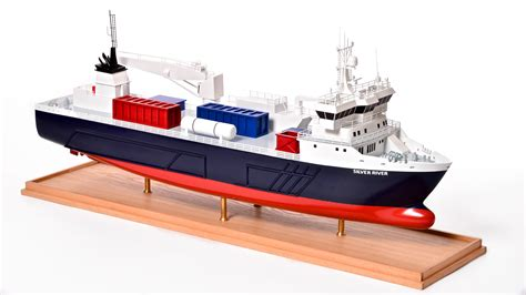silver river model cargo ship au premier ship models