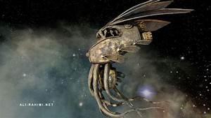 Earth 2124 alien spaceship 5 (16 bit HDR lightmap ...