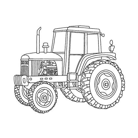 Tractor Kleurplaat by Tractors Kleurplaten Kleurplatenpagina Nl Boordevol