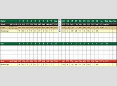 Scorecard Birch Run Golf Course