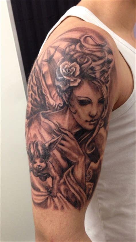 oberarm engel suchergebnisse f 252 r schutzengel tattoos bewertung de lass deine tattoos bewerten