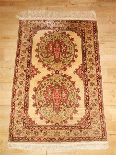Silk Rugs by Turkish Hereke Silk Rug 299847 Sellingantiques Co Uk