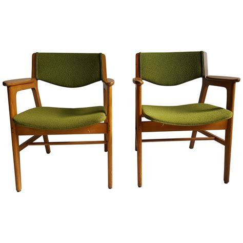 w h gunlocke chair company classic mid century modern armchairs manufactured by w h