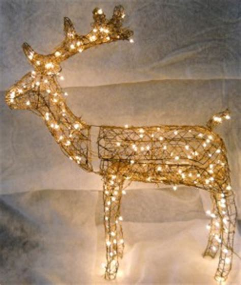 lighted grapevine reindeer outdoor christmas grapevine animated buck reindeer lighted deer yard decorations 53 quot ebay