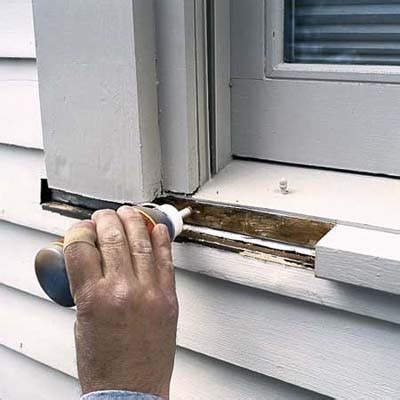 Window Sill Filler by Epoxy Wood Repair Archives Peek Brothers Painting