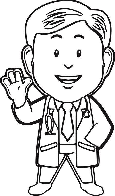 doctor coloring page  coloring pages  art coloring