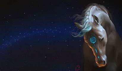 Horse Fantasy Galaxy Wallpapers Majestic Stars Tattoo