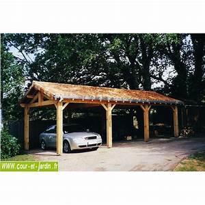Abri Voiture En Bois : carport 3 voitures bois abri de voiture en kit charpente ~ Nature-et-papiers.com Idées de Décoration