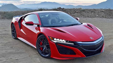 the acura nsx on the angeles crest highway fulfilling a