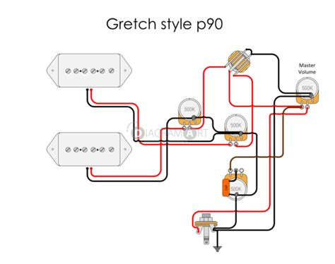 electric guitar wiring gretch style p90 electric circuit free sketch diagramart author