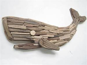 Handmade Driftwood Whale Wall Decor-Wooden Whale Plaque