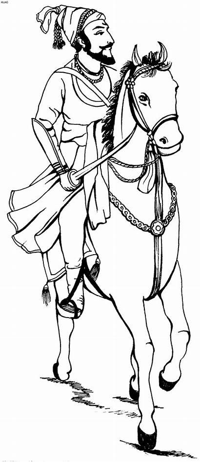 Shivaji Maharaj Sketch Cliparts Line Drawing Clipart