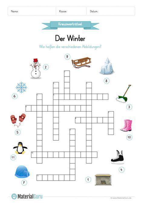 Einige kreuzworträtsel können auch online gespielt werden. Ein kostenloses Arbeitsblatt zum Thema Winter, auf dem die Kinder ein Kreuzworträtsel zum Winter ...