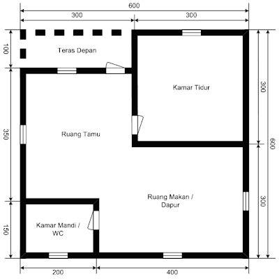 denah rumah sederhana ukuran  pemasangan listrik rumah