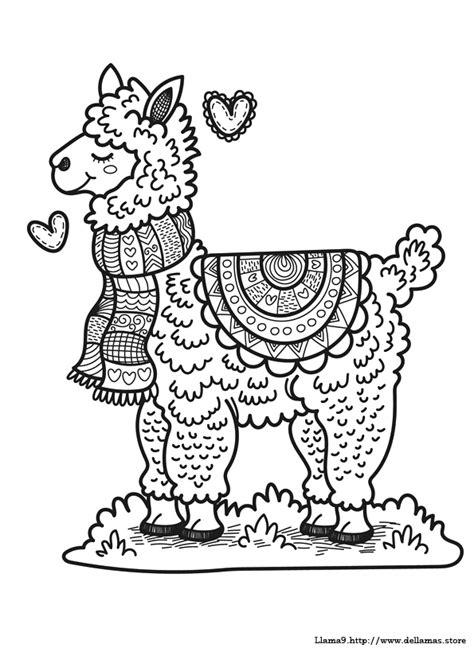 dibujos de llamas  colorear  alpacas