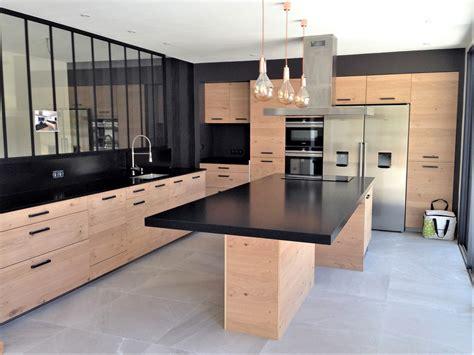 plan de cuisine stunning cuisine plan de travail noir images
