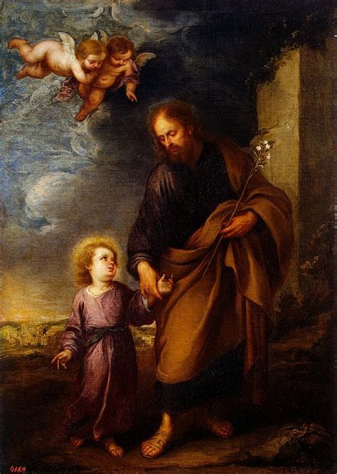 st joseph leading  christ child bartolome esteban