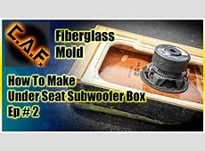 Under Seat Subwoofer Box Enclosure Video 2 Fiberglass