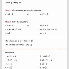 How To Solve An Absolute Value Equation