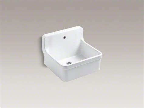 Kohler Gilford Wall Mounted Sink by Kohler Gilford Tm 24 Quot X 22 Quot Bracket Mounted Scrub Up